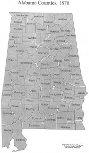 Alabama Counties 1870 without Chilton